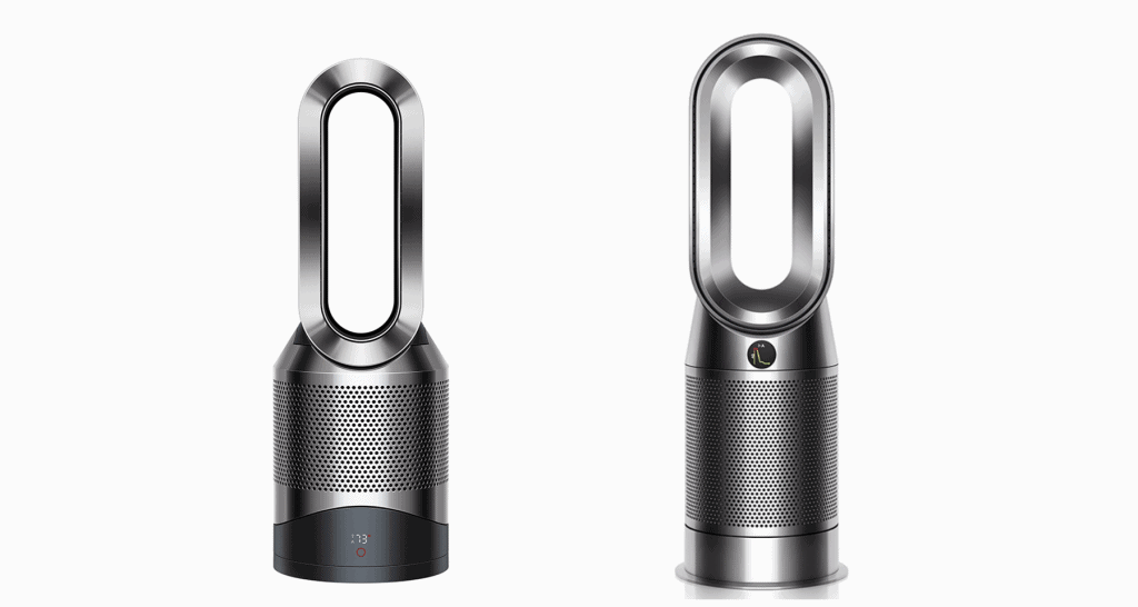 A side-by-side comparison of Dyson HP02 versus Dyson HP04.