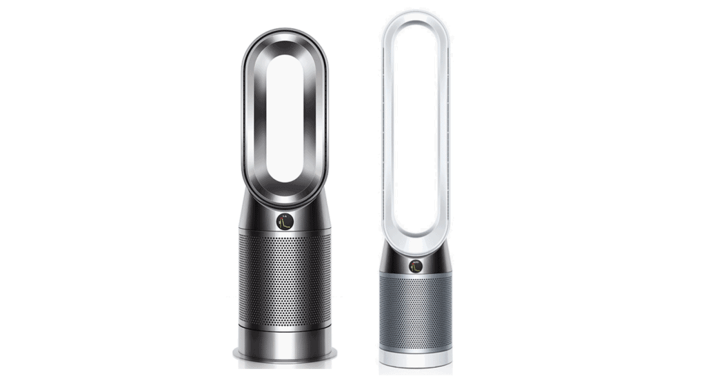 A side-by-side comparison of Dyson HP04 versus Dyson TP04.