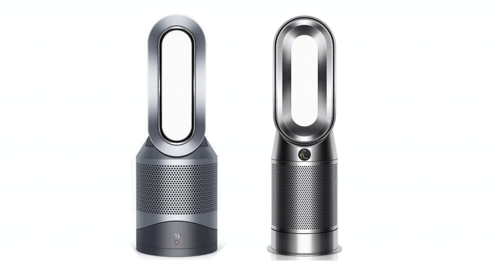 A side-by-side comparison of dyson hp01 versus dyson hp04.