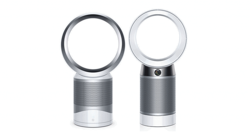 A side-by-side comparison of Dyson DP01 versus Dyson DP04.