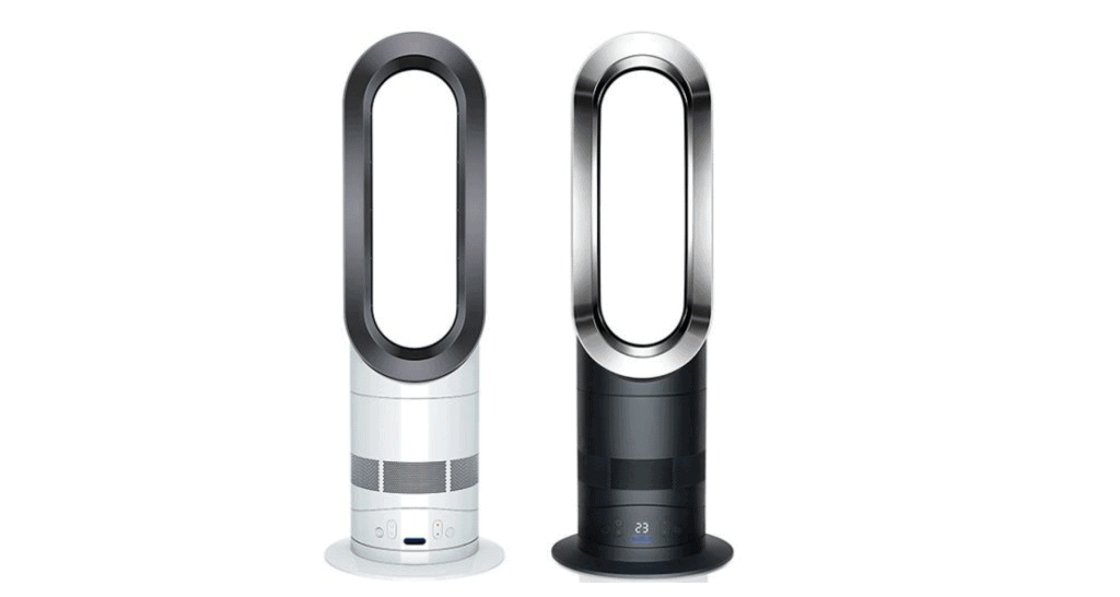 A Side-by-side comparison of Dyson Am04 vs Dyson AM05.